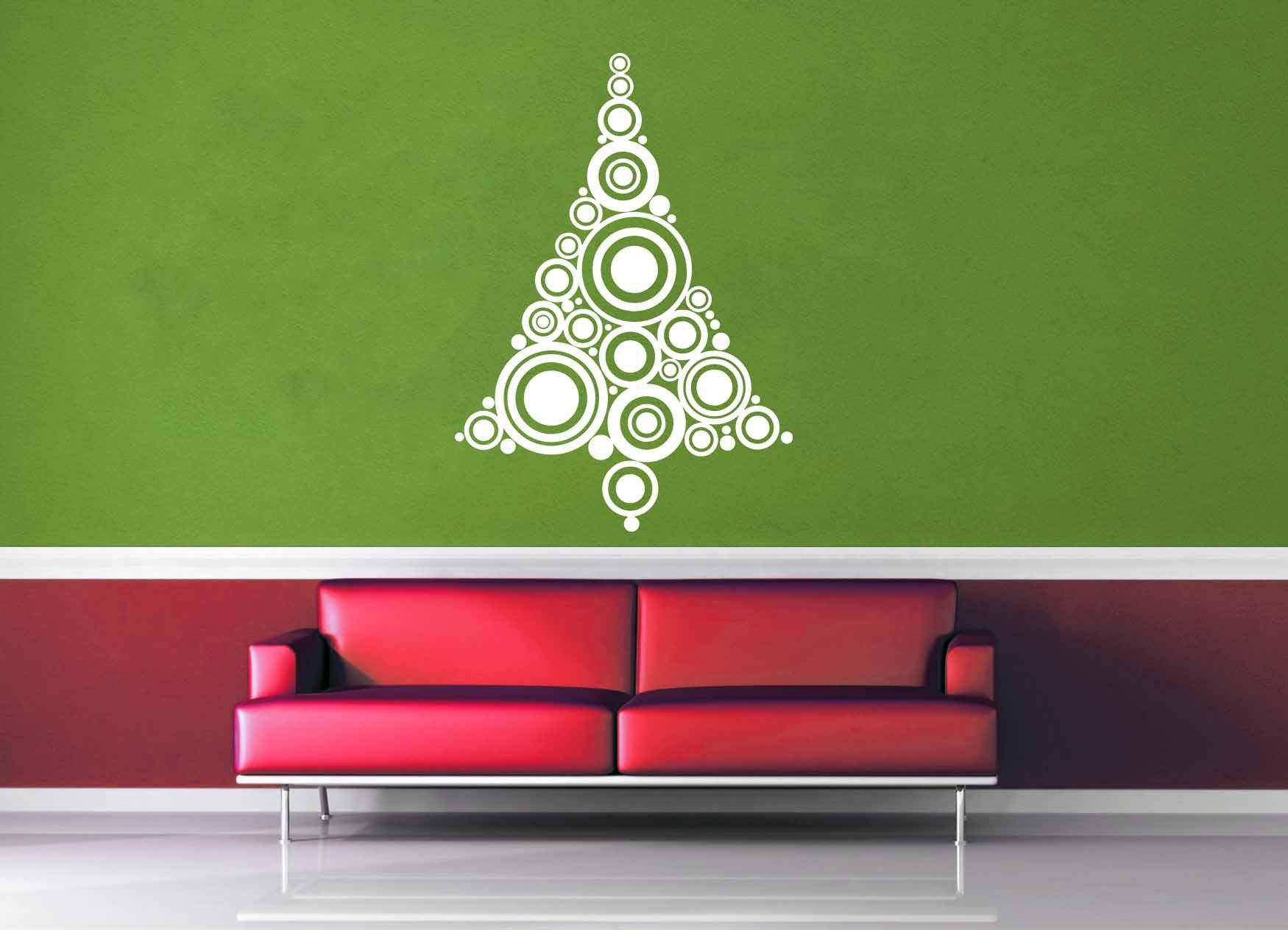 Circles - Christmas Tree - Wall Decal