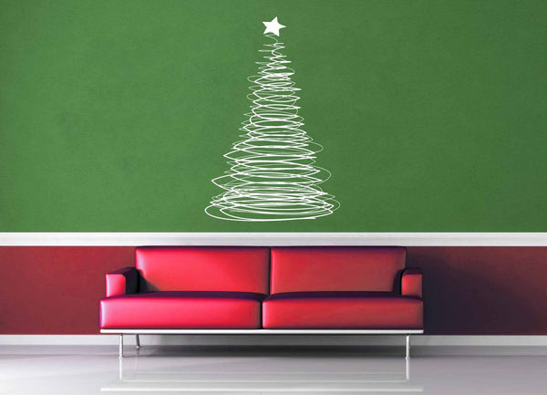 Doodle - Christmas Tree - Holiday Décor - Wall Decal