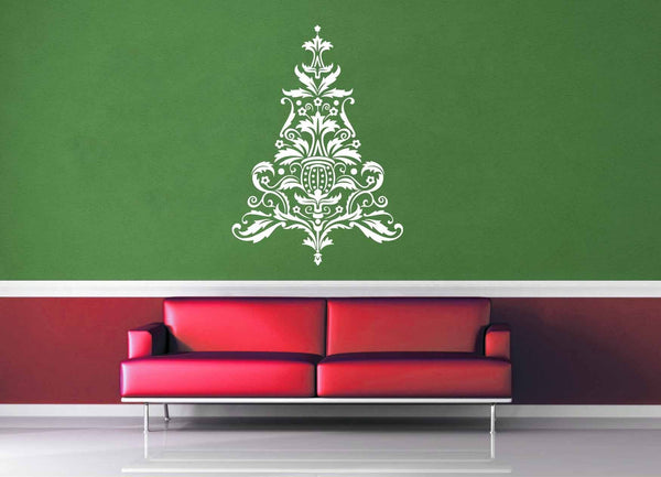 Elegant Flowers - Christmas Tree - Wall Decal