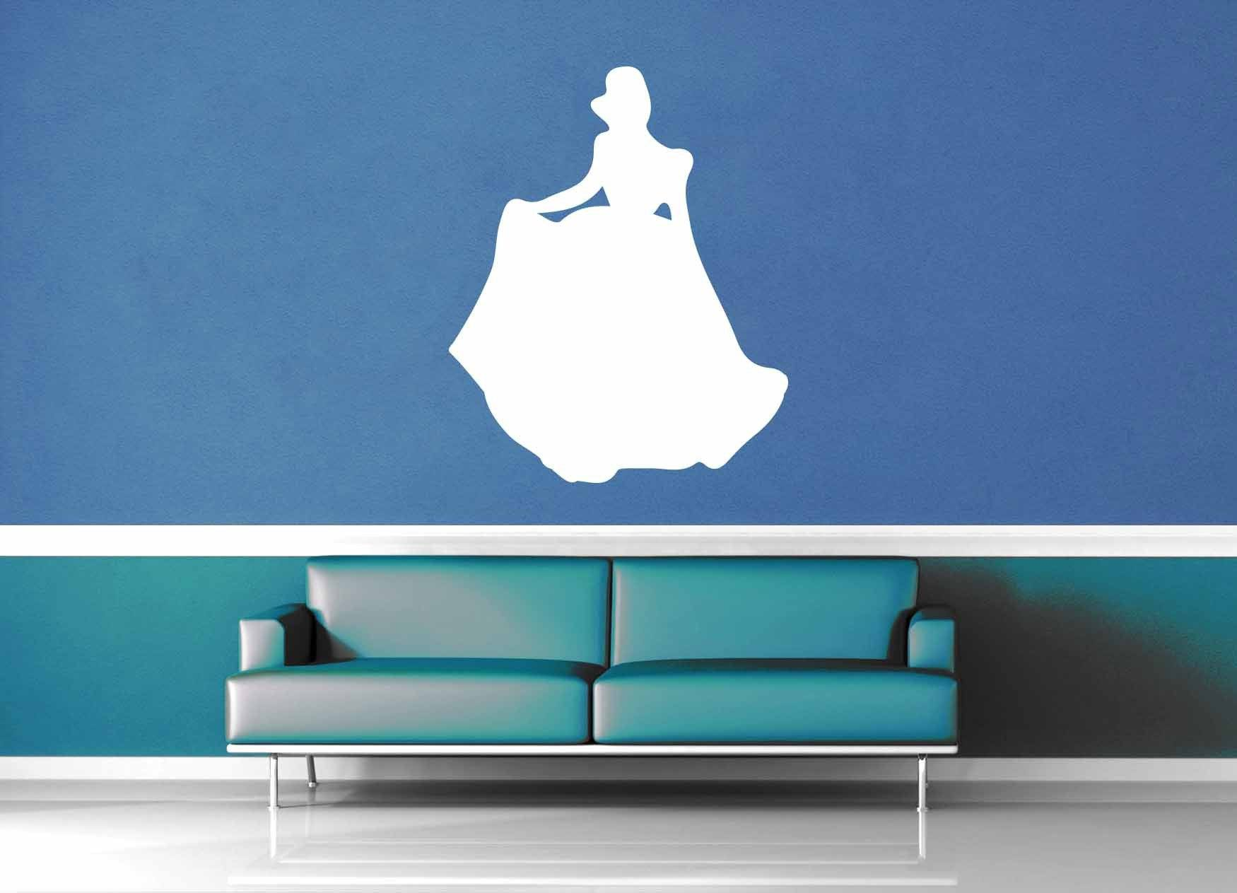 Cinderella Silhouette - Wall Decal - No 1