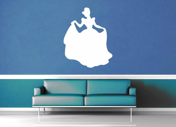 Cinderella Silhouette - Wall Decal - No 3