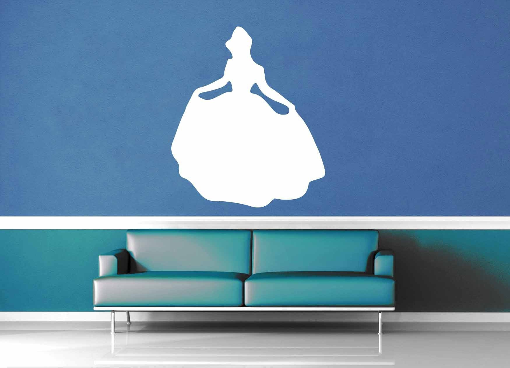 Cinderella Silhouette - Wall Decal - No 4