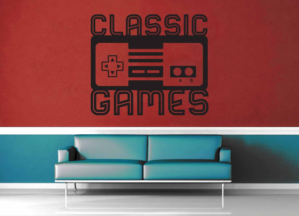 Classic Games - Gamer Décor - Wall Decal - geekerymade