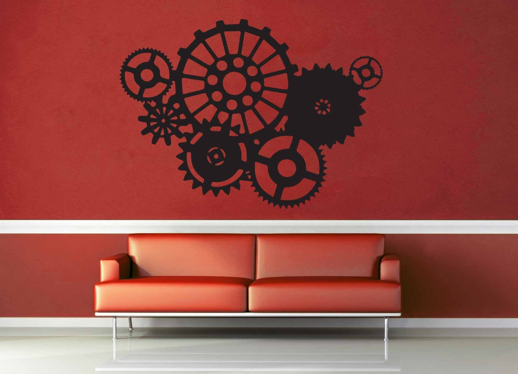 Clockwork Silhouette - Steampunk - Wall Decal