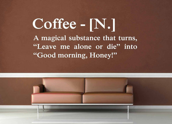 Definition of Coffee - Wall Decal - geekerymade