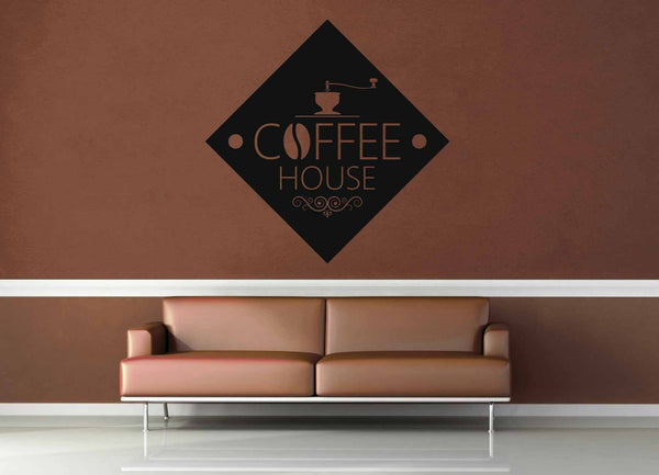 Diamond - Vintage Café Sign - Wall Decal - geekerymade