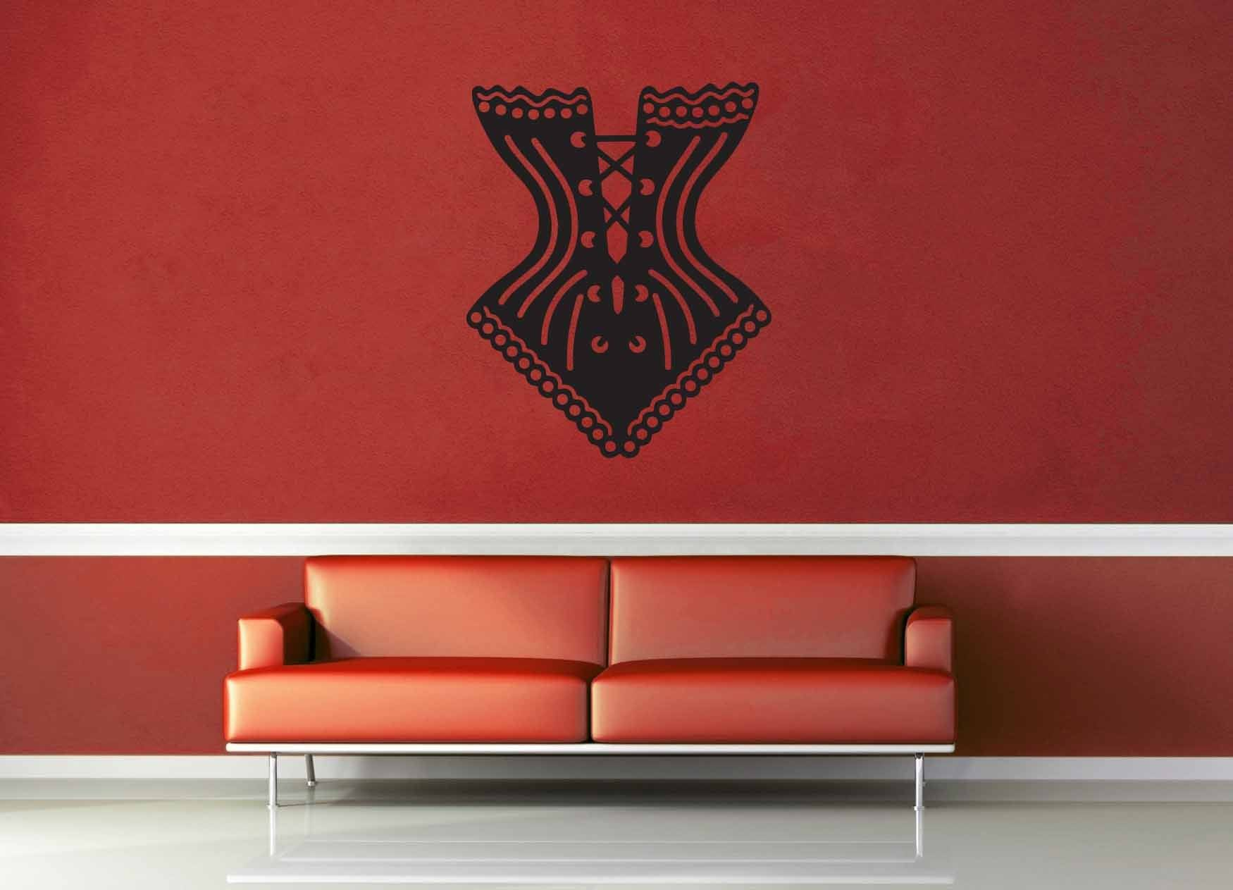 Corset Silhouette - Wall Decal