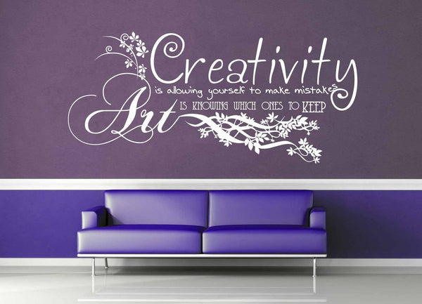 Creativity vs Art - Quote - Wall Decal - geekerymade