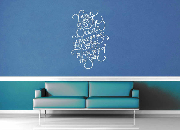 Cross the Ocean - Inspirational Quote - Wall Decal - geekerymade