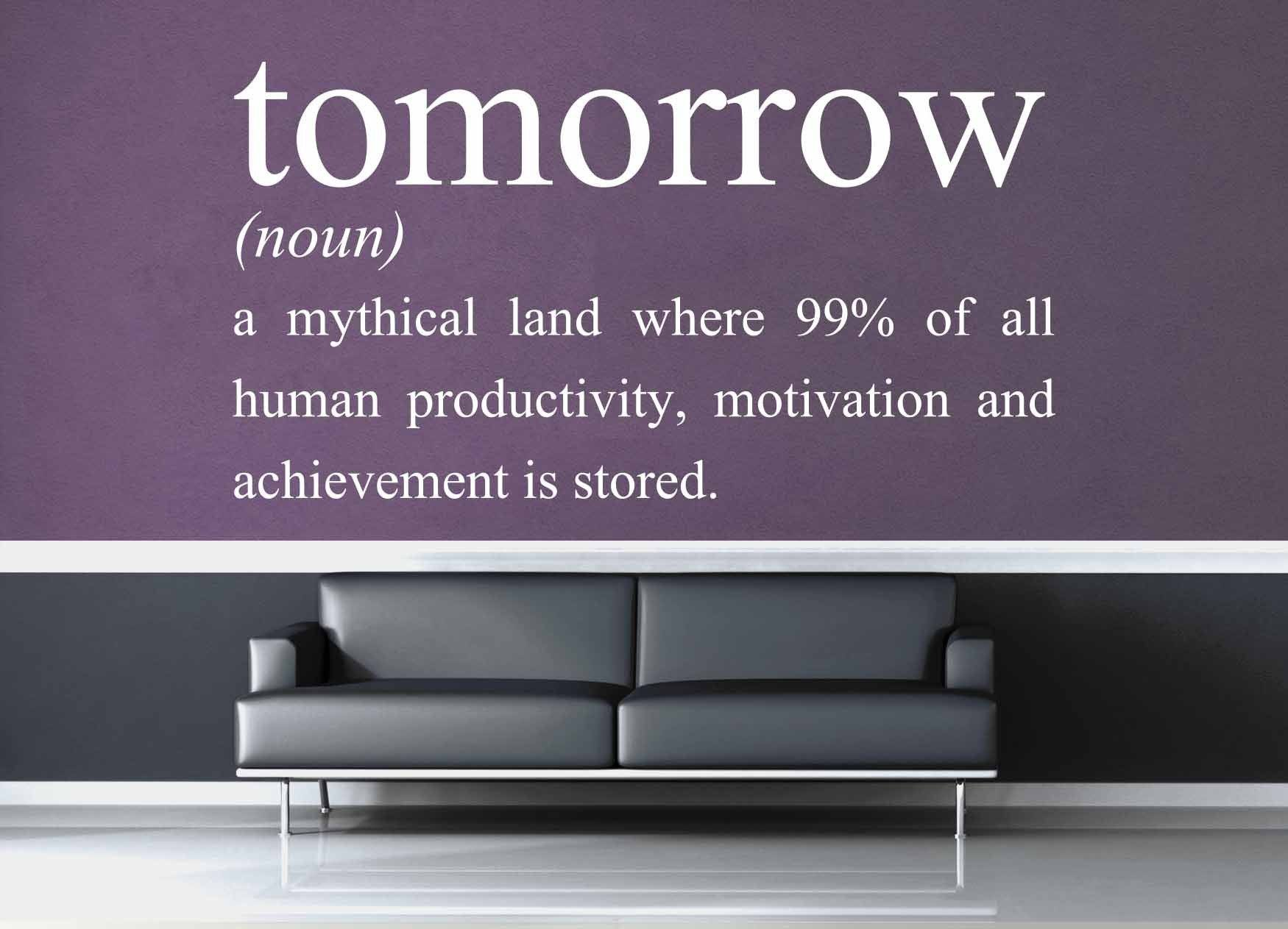 Definition of Tomorrow - Wall Decal