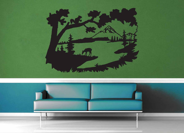 Deer Valley Silhouette - Wall Decal - geekerymade