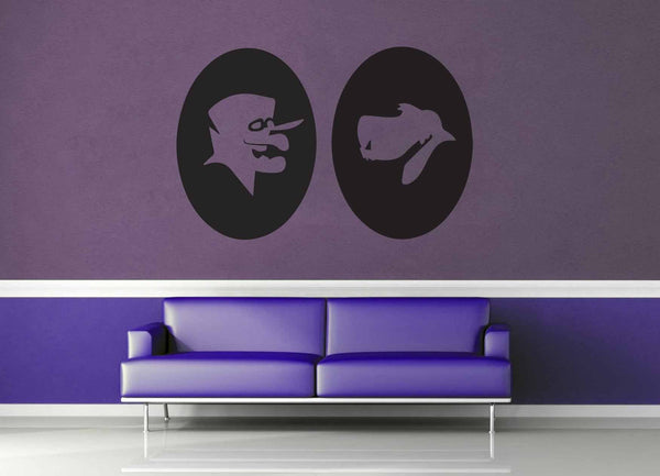 Dick Dastardly and Muttley Cameo Set - Wall Decal - geekerymade