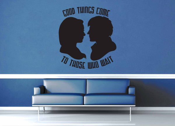 Good Things Come to Those Who Wait - Doctor Who Quote - Wall Decal - geekerymade