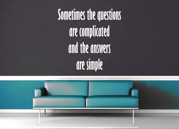 Complicated Questions - Dr Suess Quote - Wall Decal