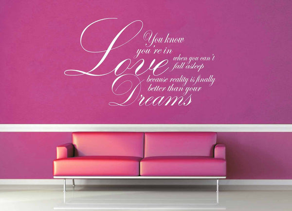Love Better than Dreams - Dr Suess Quote - Wall Decal - geekerymade