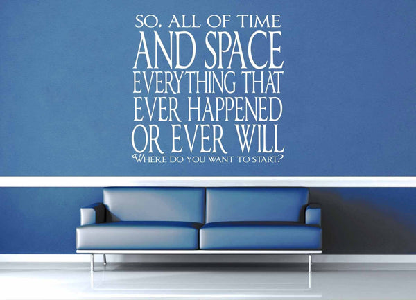 All of Time and Space - Doctor Who - Wall Decal - geekerymade