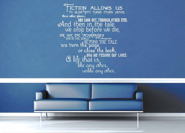 Fiction Allows Us - Doctor Who Quote - Wall Decal