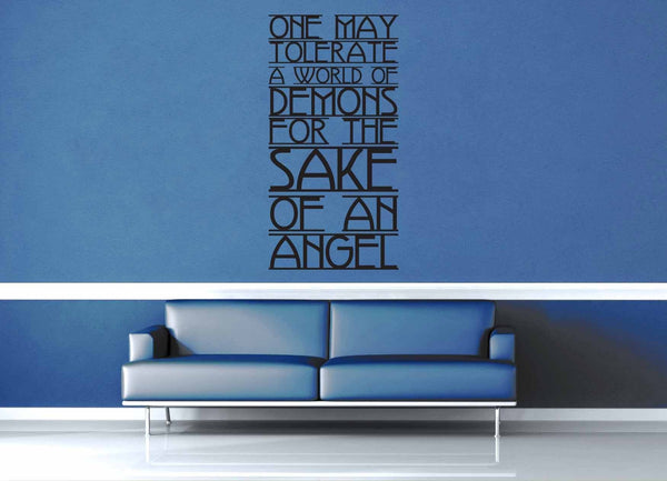 For the Sake of an Angel - Doctor Who Quote - Wall Decal