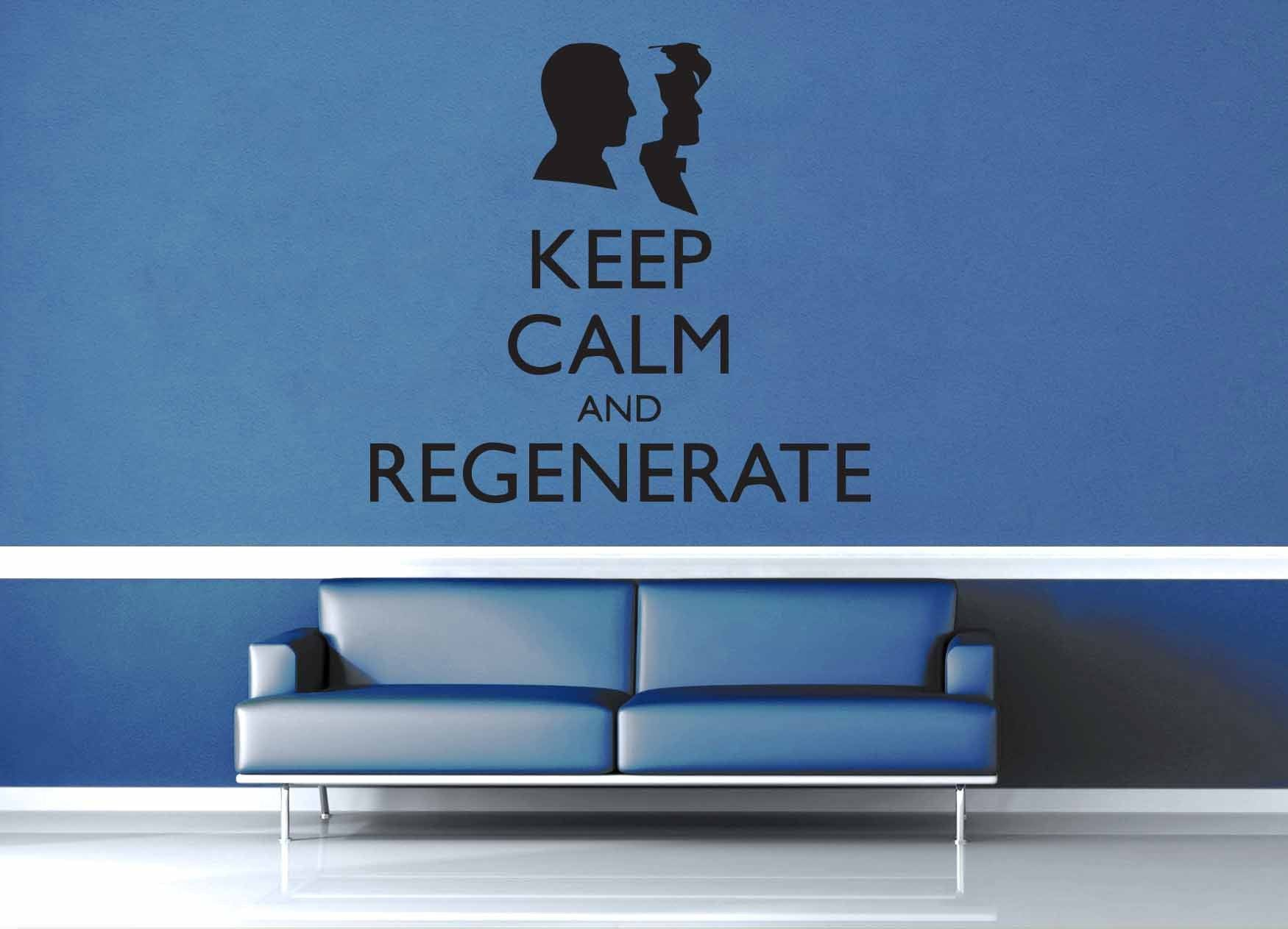 Keep Calm and Regenerate - Doctor Who - Wall Decal - geekerymade