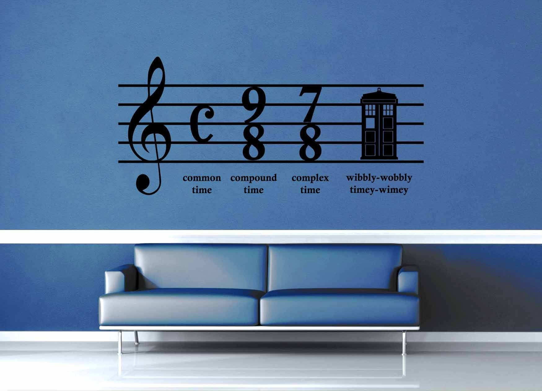 Wibbly Wobbly Music   Doctor Who   Wall Decal