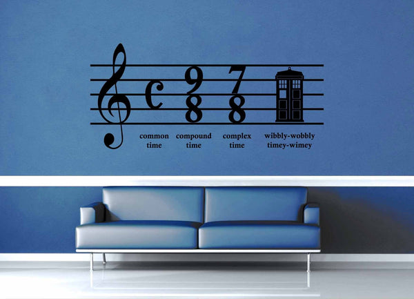 Wibbly Wobbly Music - Doctor Who - Wall Decal - geekerymade
