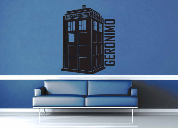 Geronimo Tardis - Doctor Who Quote - Wall Decal - geekerymade