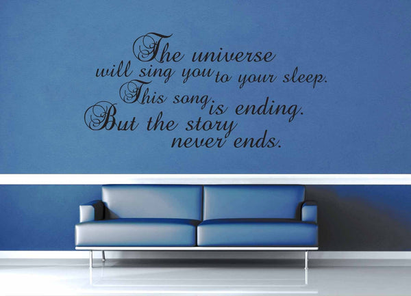 The Universe Will Sing You to Sleep - Doctor Who Quote - Wall Decal