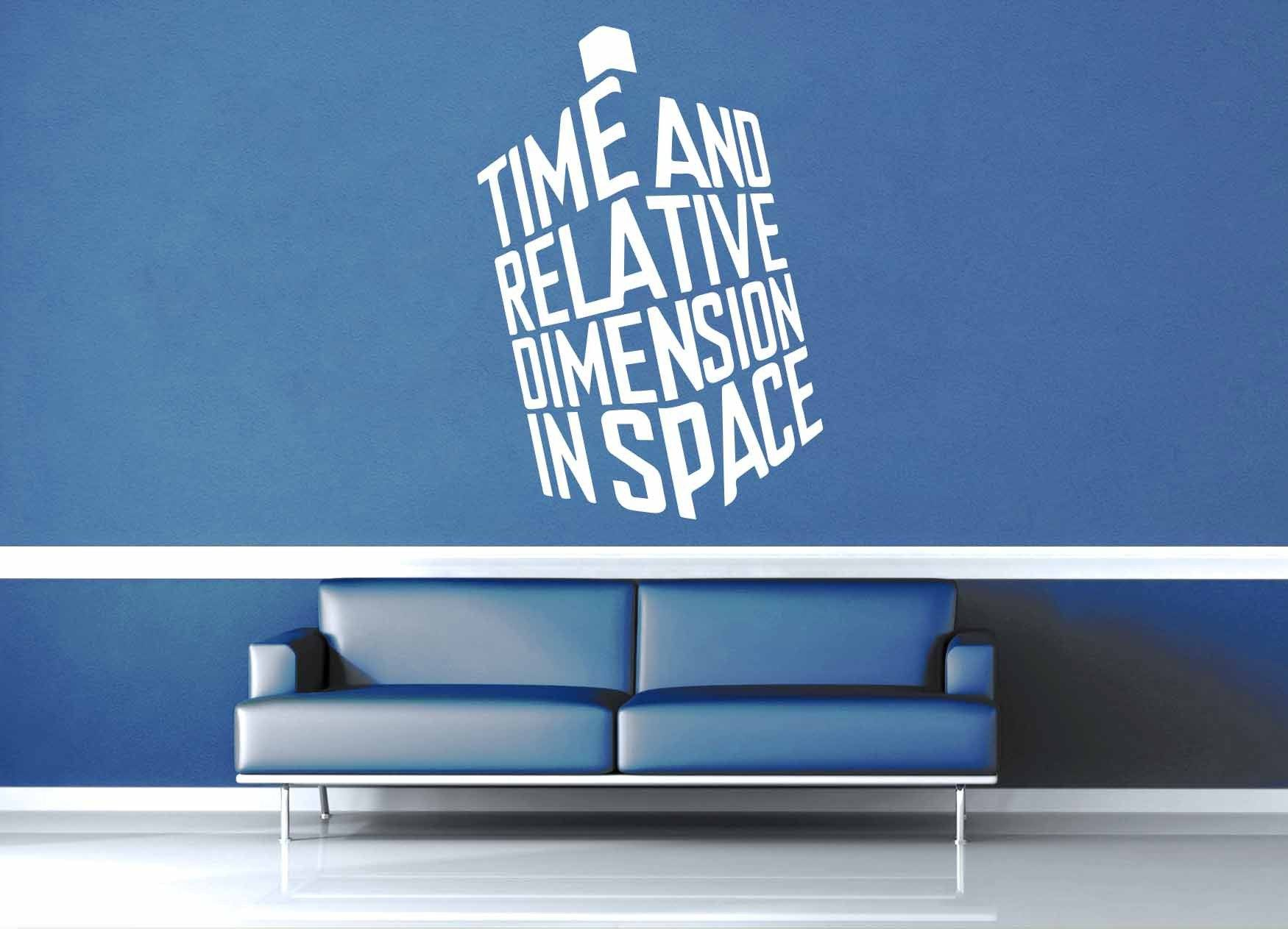 Time and Relative Dimension in Space - Doctor Who Wall Decal - Wall Decal