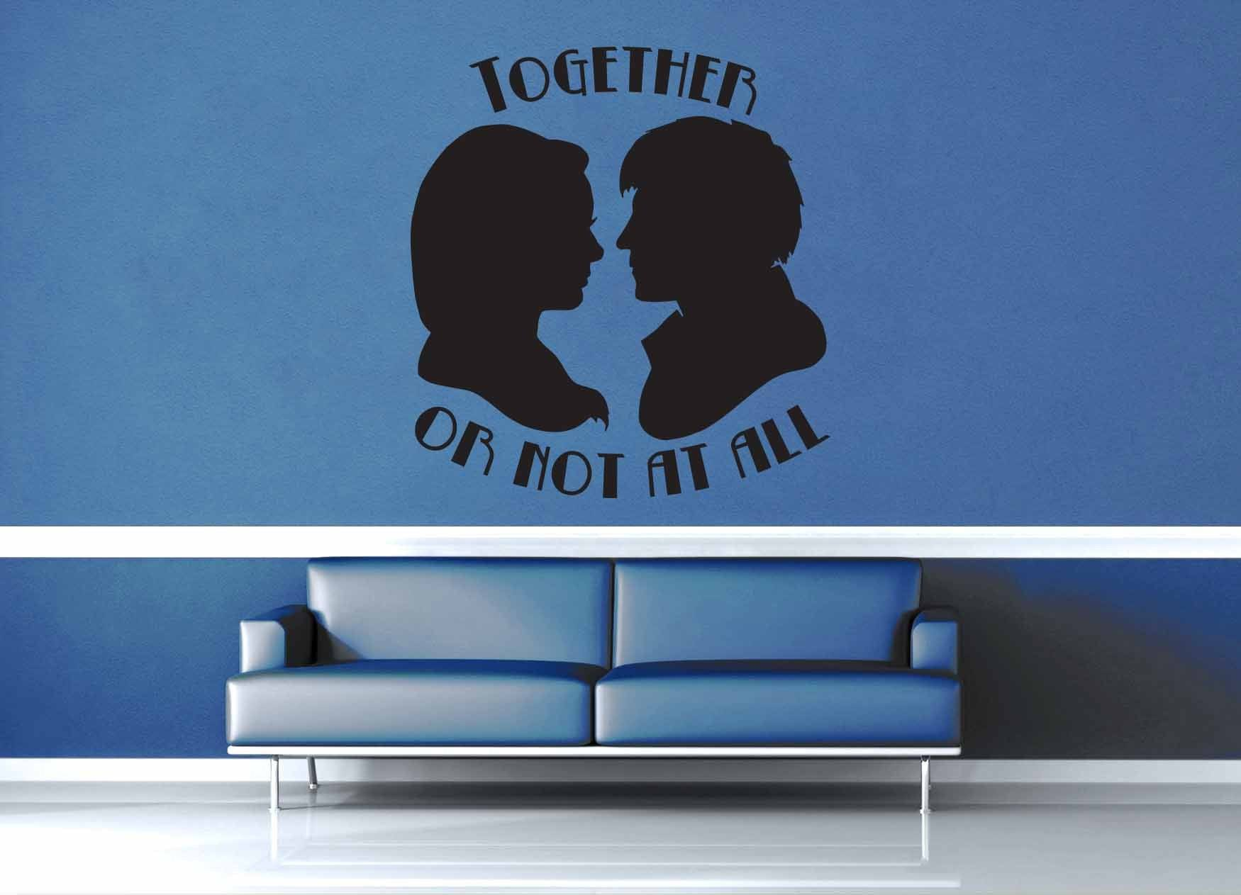 Together or Not At All - Doctor Who Quote - Wall Decal