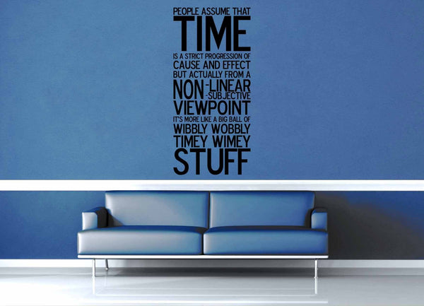 Wibbly Wobbly - Doctor Who Quote - Wall Decal