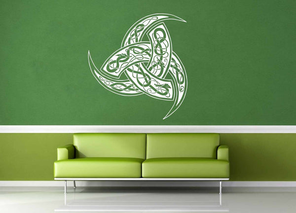 Dragon Valknut - Wall Decal - geekerymade