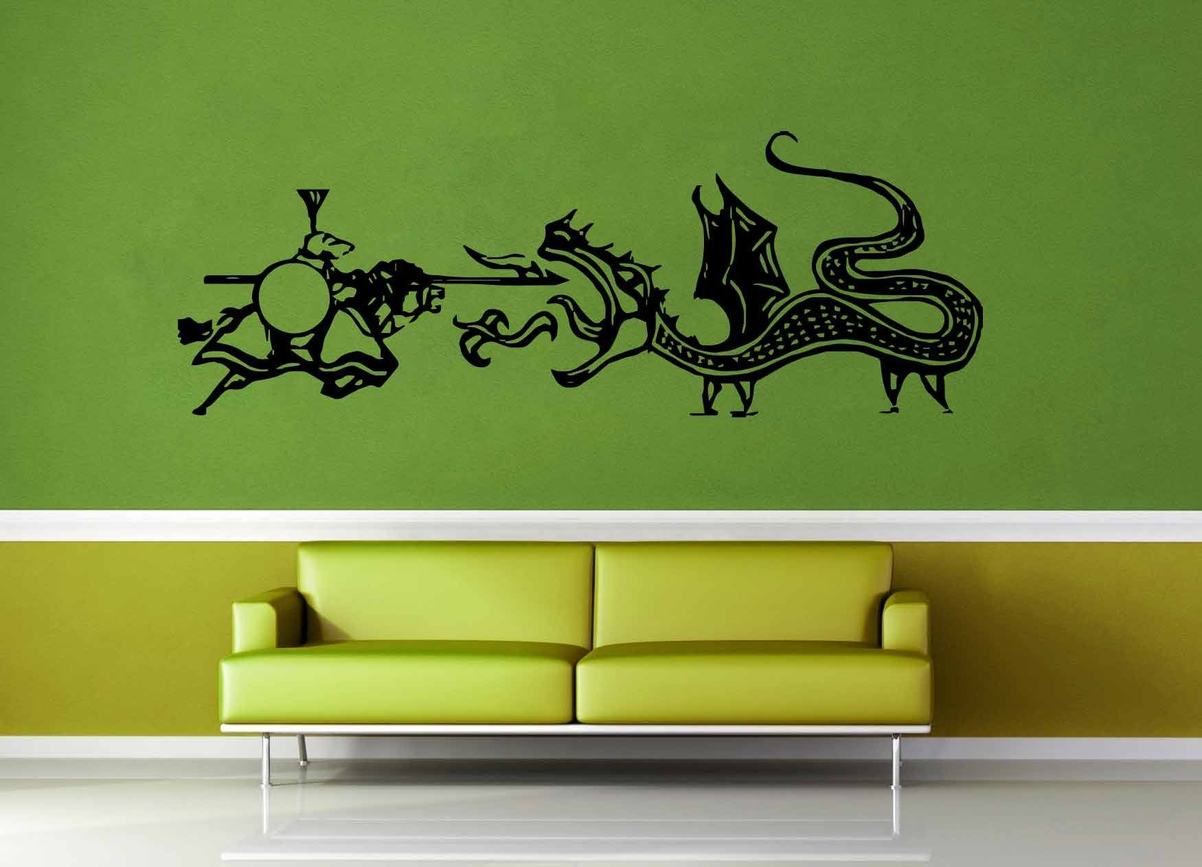 Dragon vs Knight - Wall Decal