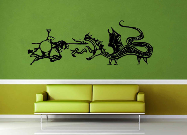 Dragon vs Knight - Wall Decal - geekerymade