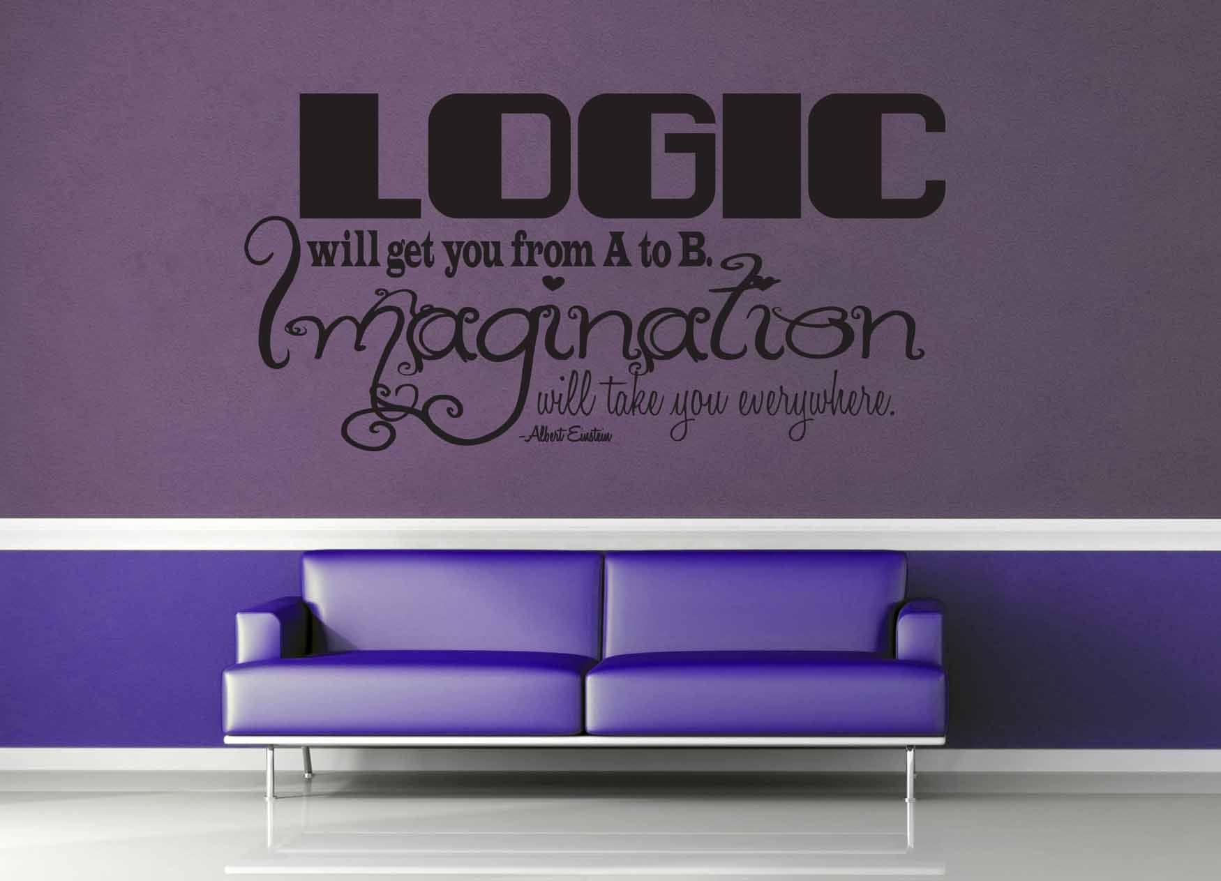 Logic vs Imagination - Einstein Quote - Wall Decal