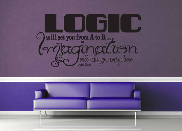 Logic vs Imagination - Einstein Quote - Wall Decal - geekerymade