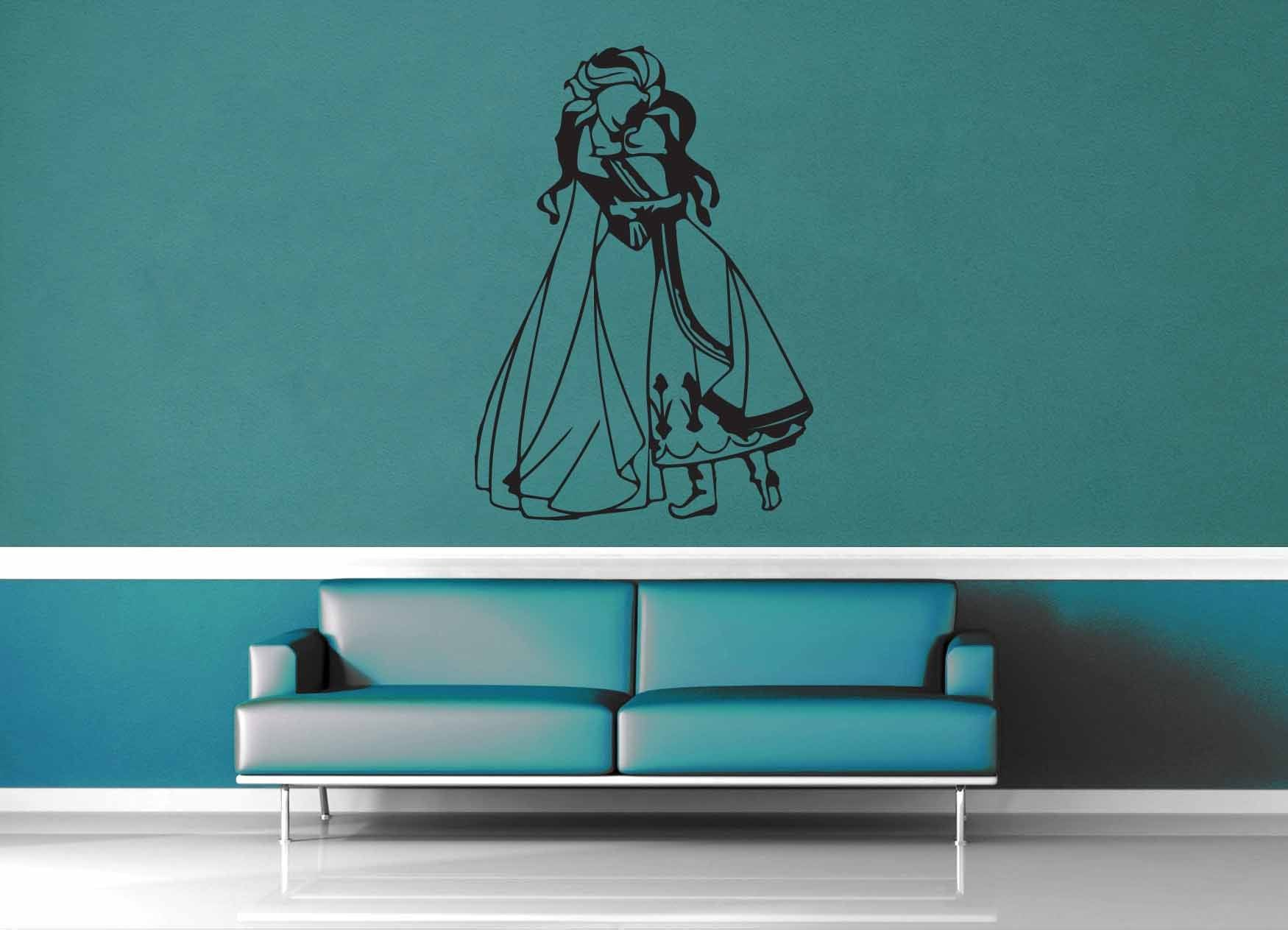Elsa and Anna - Wall Decal - No 1 - geekerymade
