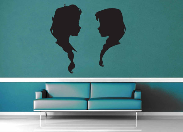 Elsa and Anna - Wall Decal - No 3 - geekerymade