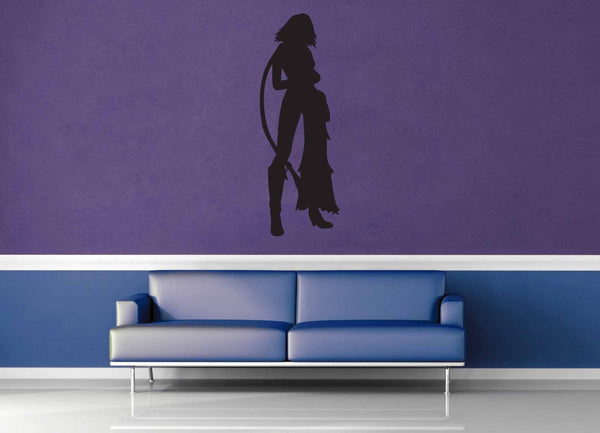 Yuna Silhouette - Final Fantasy X2 - Wall Decal
