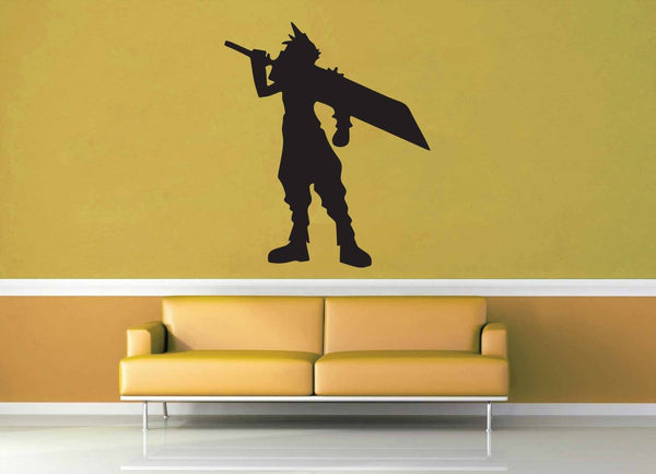 Cloud Silhouette - Final Fantasy 7 - Wall Decal - geekerymade