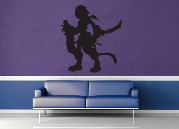 Zidane Silhouette - Final Fantasy 9 - Wall Decal - geekerymade