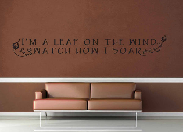 I'm a Leaf on the Wind - Firefly Quote - Wall Decal - No 3 - geekerymade