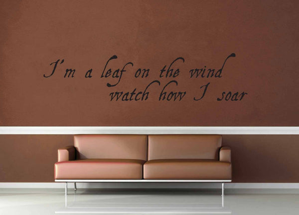 I'm a Leaf on the Wind - Firefly Quote - Wall Decal - No 4 - geekerymade
