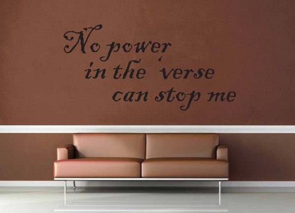 No Power in the Verse - Firefly Quote - Wall Decal - No 3 - geekerymade