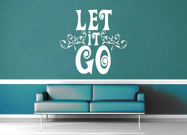Let it Go - Frozen Quote - Wall Decal - geekerymade