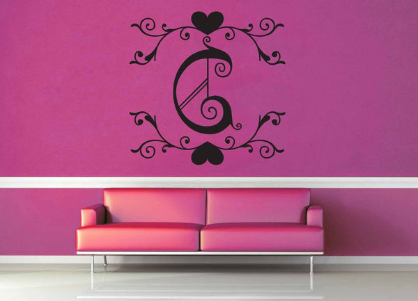Fantasy Monogram - C - Wall Decal
