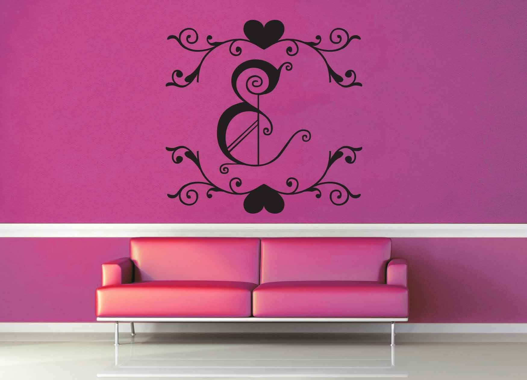 Fantasy Monogram - E - Wall Decal