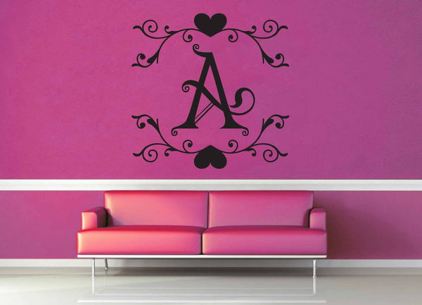 Fantasy Monogram - A - Wall Decal - geekerymade