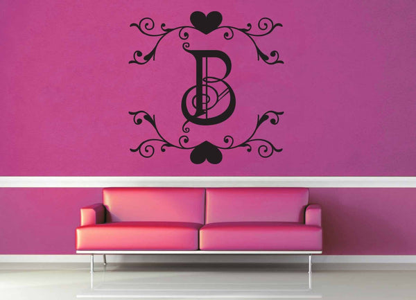 Fantasy Monogram - B - Wall Decal
