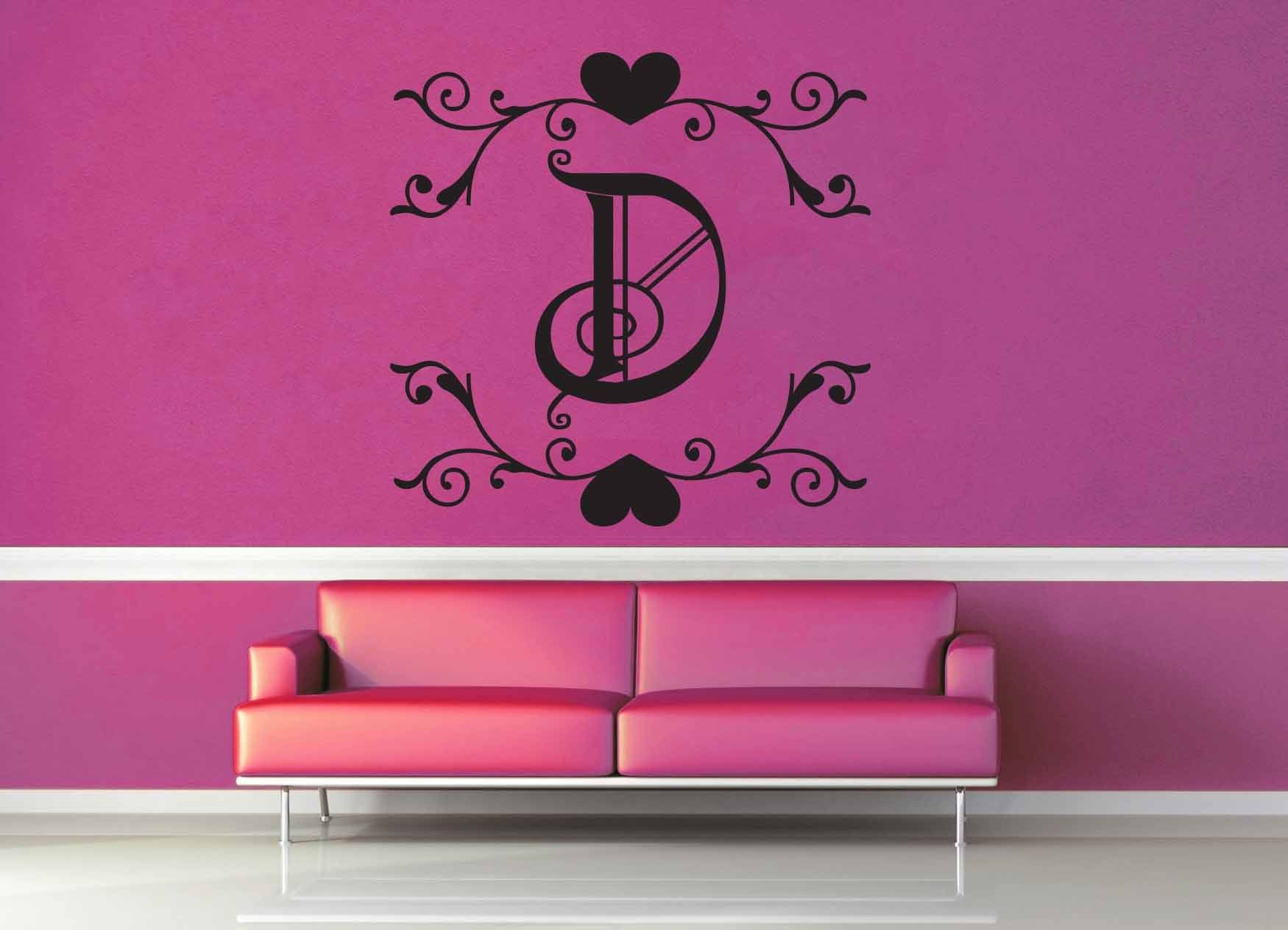 Fantasy Monogram - D - Wall Decal