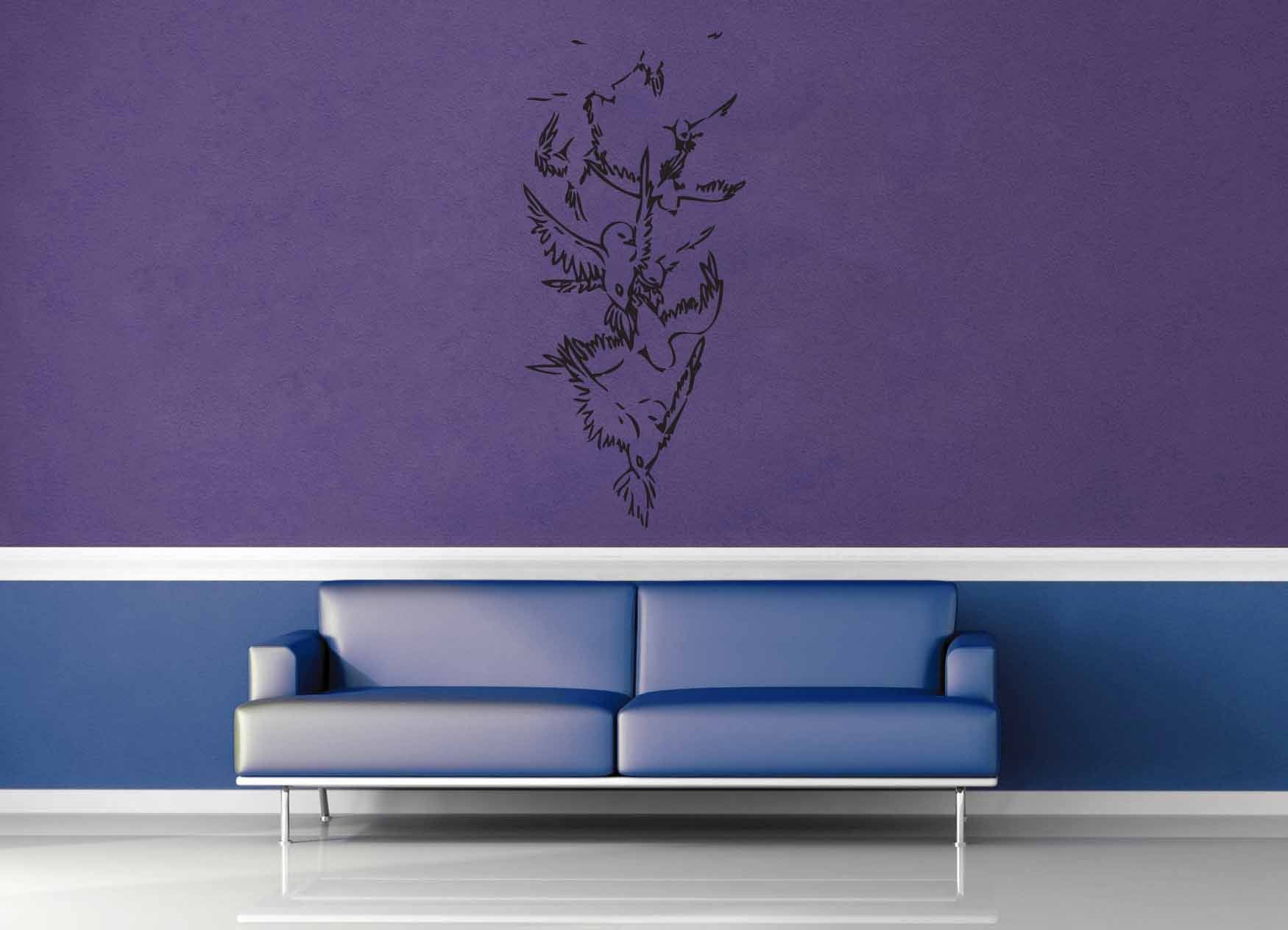 Falling Birds - Wall Decal